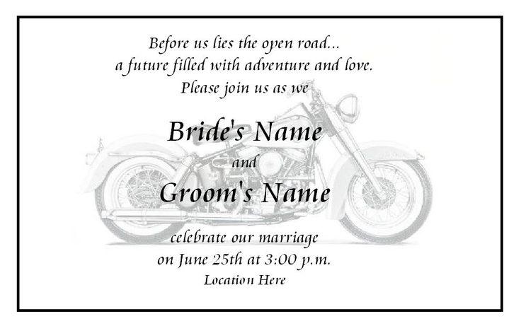 biker wedding invitation idea