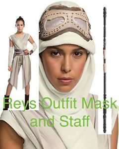 Licensed Deluxe Full REY Costume With Mask AND Staff | eBay