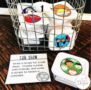 Multiple Intelligences Thinking Tubs! So great for early finishers and enrichment.