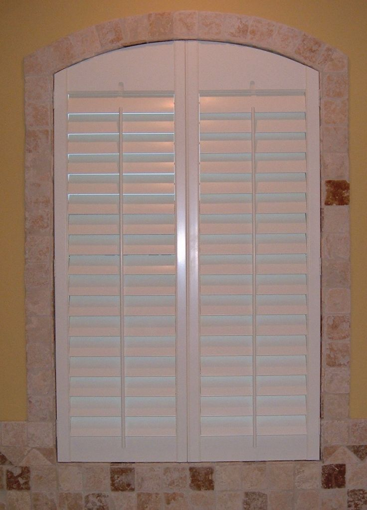 17 best images about arched plantation shutters on - Plantation shutters for bathroom ...