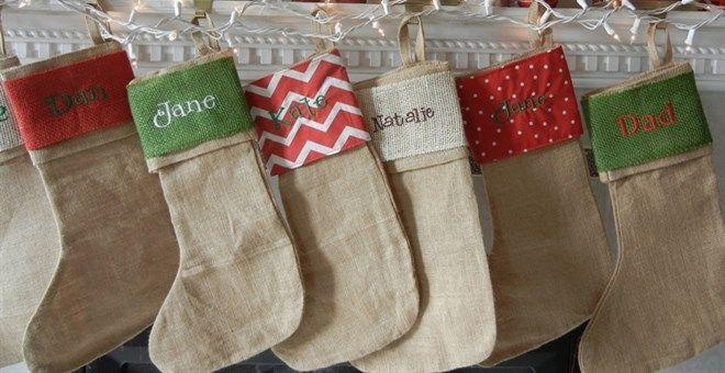 Personalized Burlap Christmas Stockings, Only $14.95! -HotCouponWorld.com