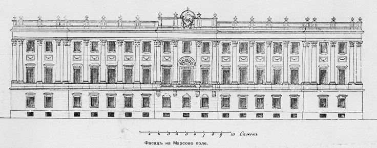 Constantine Marble Palace Architect: Antonio Rinaldi (1710-1794) Title: Konstantinovsky Palace Marble Location: Russia. St. Petersburg Architect: Antonio Rinaldi (1710-1794) The facade on the Champ de Mars.