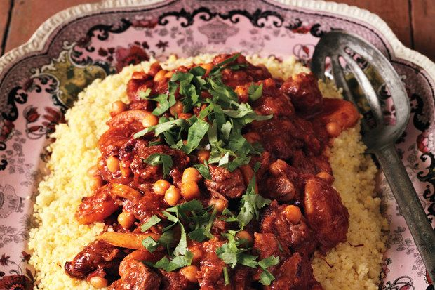 Lamb Tagine with Chickpeas and Apricots / Jason Lowe