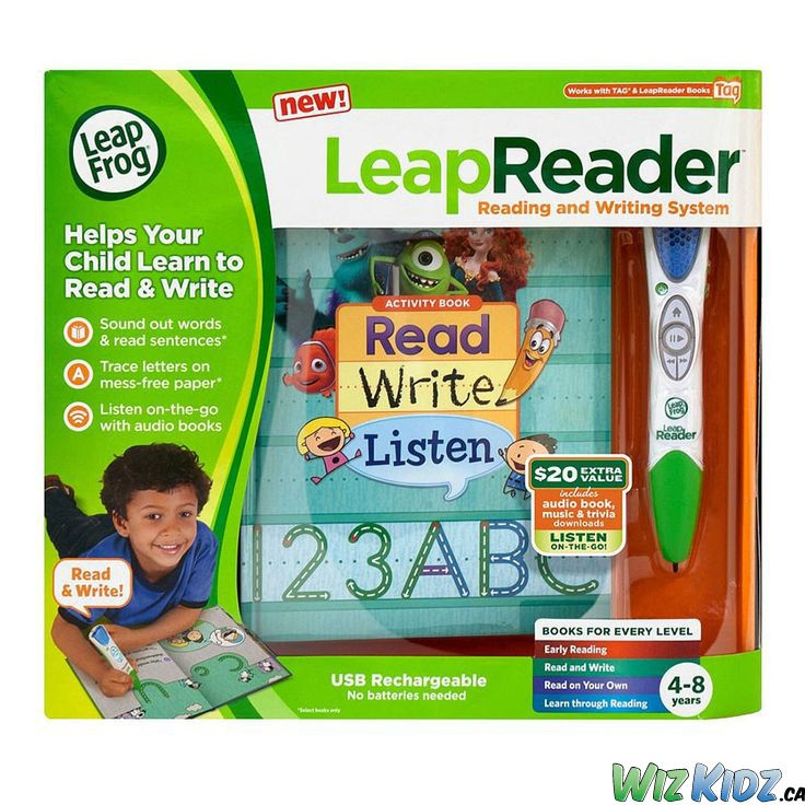The LeapFrog LeapReader helps your child learn to read and write by guiding letter strokes and sounding out words interactively.This reading and writing system offers imaginative stories with lively character voices to help build your child's vocabulary and reading comprehension skills. #children #education #reading #writing #leapfrog