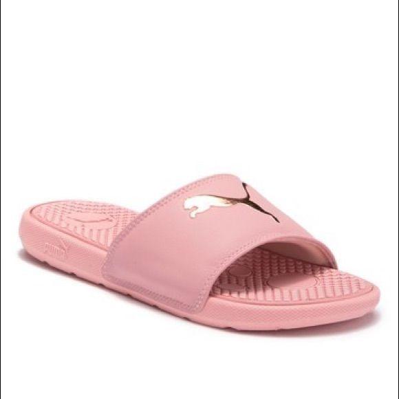 Puma Shoes | Puma Pink Rose Gold Logo