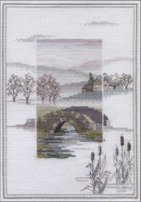 Winter Bridge - Misty Mornings Cross Stitch Kit from Derwentwater Designs