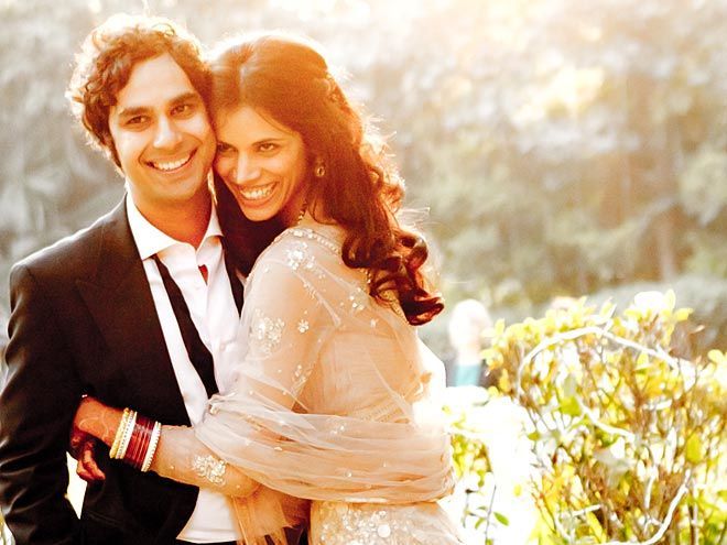 Kunal Nayyar (big bang theory) and Neha Kapur (former miss india)... I didn't know either of them before this photo, but this photo is gorgeous... as are they.