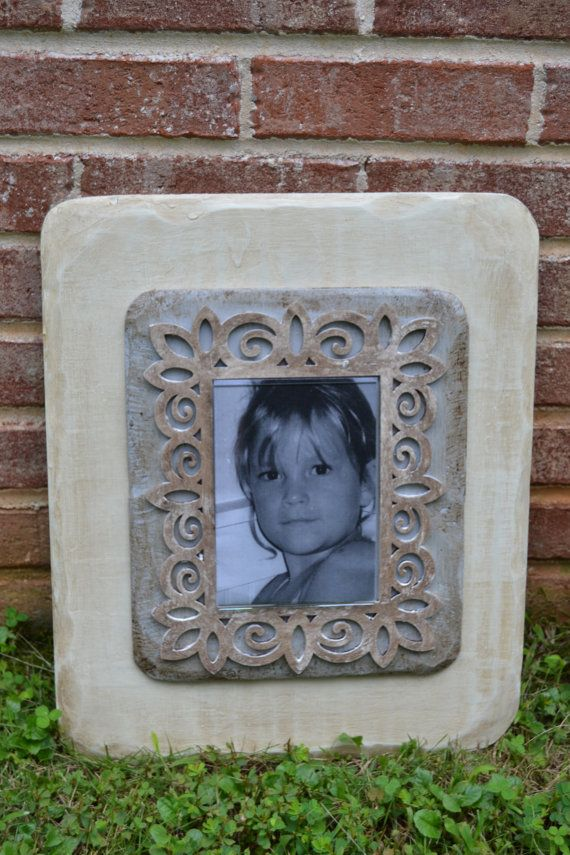 off white and gray 14 x 17 frame with 5 x 7 acrylic photo enclosure
