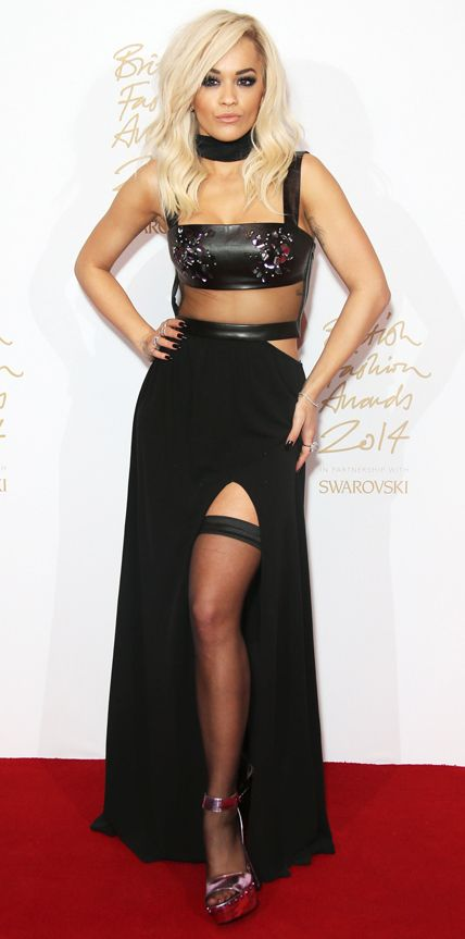 The Best Looks from the 2014 British Fashion Awards Red Carpet - Rita Ora