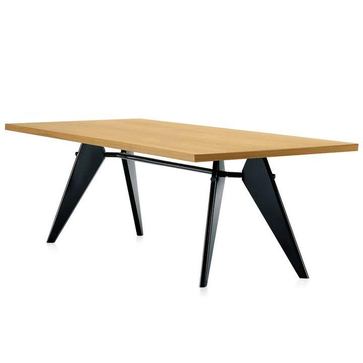 La Em Table de Vitra chêne en naturel / noir