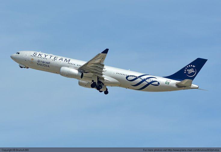 Saudi Arabian Airlines Airbus A330-300 HZ-AQL at Paris Charles de Gaulle