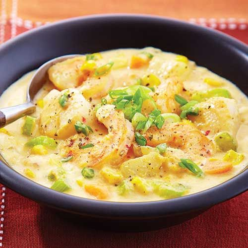 The thick, creamy texture is not the only reason this chowder satisfies: It provides 27 grams, or 55%, of your daily value of protein.