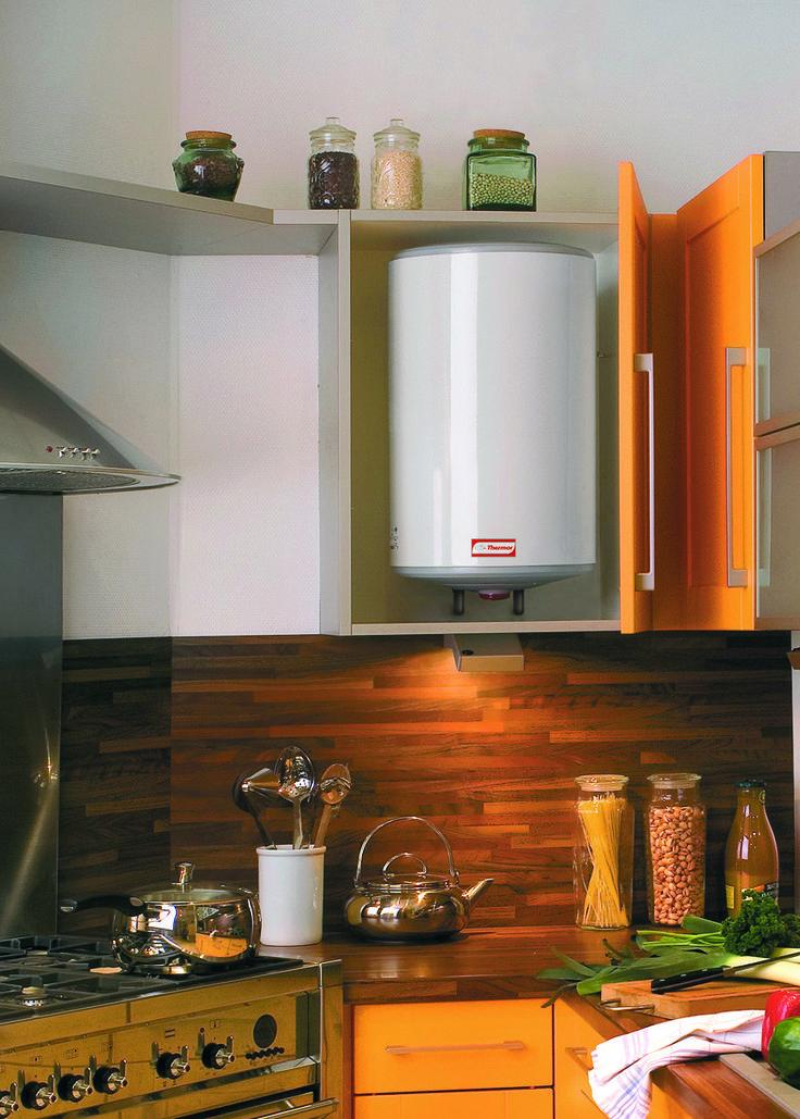 Mini chauffe-eau électrique Thermor. Chauffe-eau d'appoint  pour les points de puisage éloignés du chauffe-eau électrique principal. #mini #chauffeeau