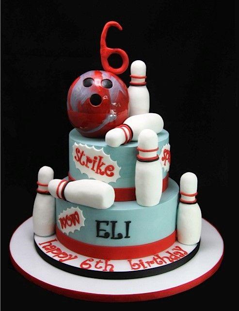 gateau anniversaire bowling