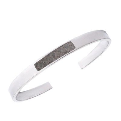 Bandhu fragment bracelet light grey snake thin | www.bandhu.eu