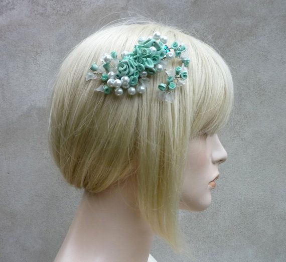 Wedding hair clip Deweries pastel by wandadesign on Etsy, €25.00