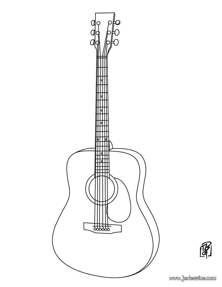 Coloriage : Guitare