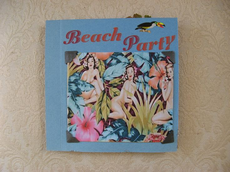 Friendship page for July called Beach party made by Josie Hancock. www.JozartInnovativeDesigns.blogspot.com