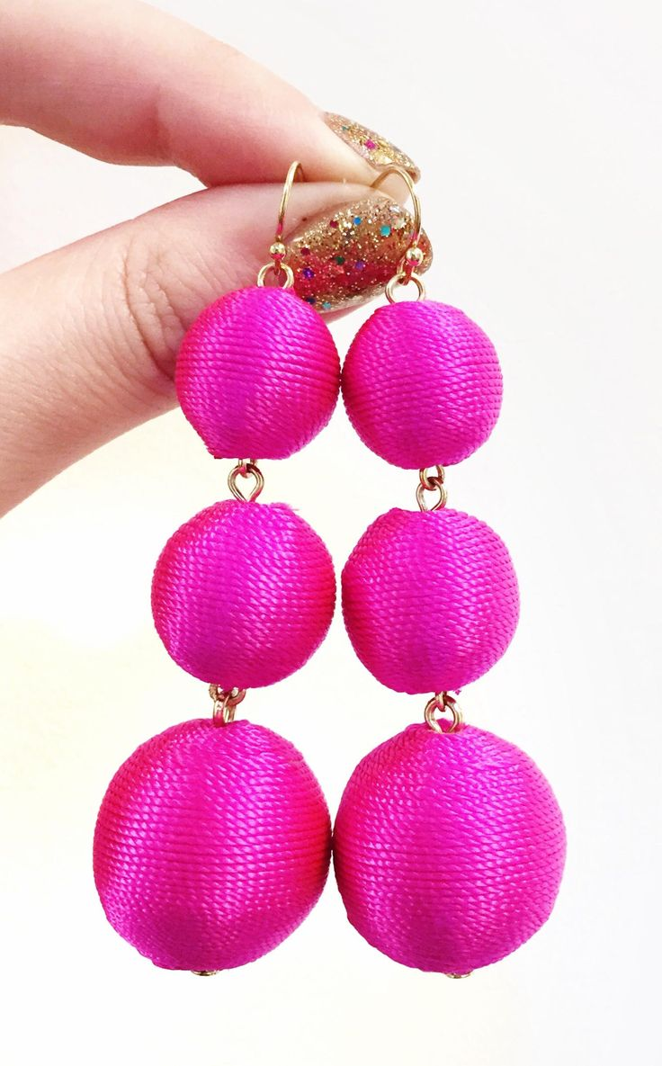 Never want to take off these pink earrings.