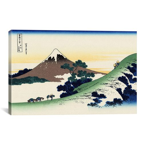 Found it at AllModern - 'Inume Pass in The Kai Province' by Katsushika Hokusai Painting Print on Canvas