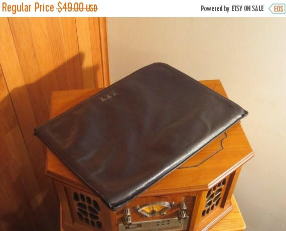 Independence Days Sale Price Reduced! Vintage Bosca Hand Stained Black Portfolio Laptop IPad Sleeve With Brass Zippered Closure- Made in USA by ProVintageGear on Etsy https://www.etsy.com/listing/243466424/independence-days-sale-price-reduced