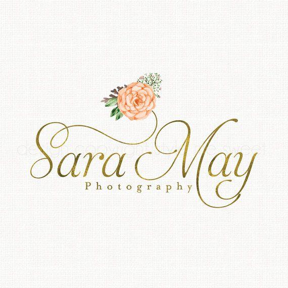 photography logo flower logo florist logo by stylemesweetdesign