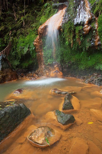Caldeira Velha Waterfall    São Miguel island.  Photo by Rui Vieira.