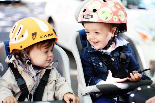 Pure joy! And two cool bike helmets.