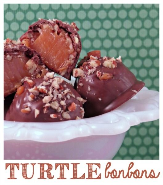 Learn to make your own bonbons the old-fashion way. It's easy with this Homemade Turtle Bonbons Recipe