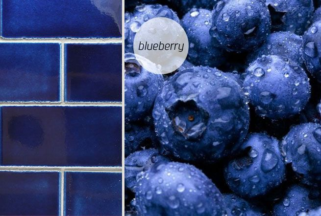 Blueberry, handglazed subway tiles, made in New Zealand by Middle Earth Tiles.