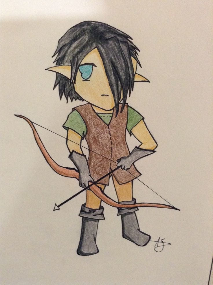 Another sketchy I forgot to post last year. I actually managed to draw a chibi of one of my characters. lol. He is so cute. This is my Elf Pelt, who will appear in either Book 4 or 5. :)