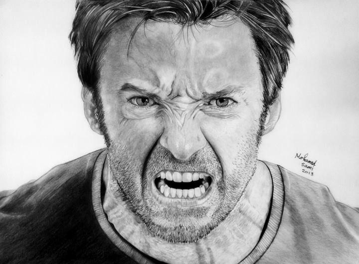 Hugh jackman wolverine art drawing