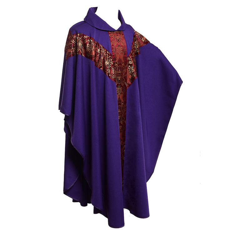 1pc Purple Catholic Church Clergy Robe Priest Celebrant Chasuble Vestments J035 in Collectibles, Religion & Spirituality, Christianity | eBay