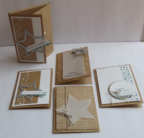 Am 19. November biete ich in meiner Werkstatt ein Weihnachtskarten – Workshop an. Geplant habe ich mit Euch vier Weihnachtskarten in einer Geschenkverpackung zu basteln. Hier ein paar Beispie…