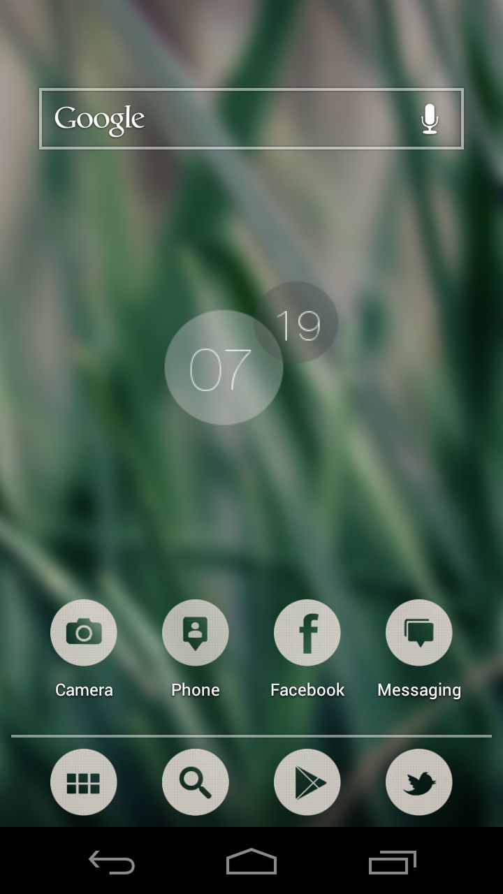 I just discover this Amazing android Homescreen