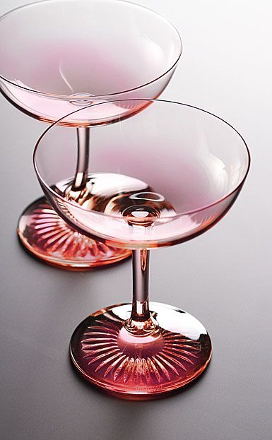 Waterford Monique Lhuillier Blush Champagne Saucer, Pair