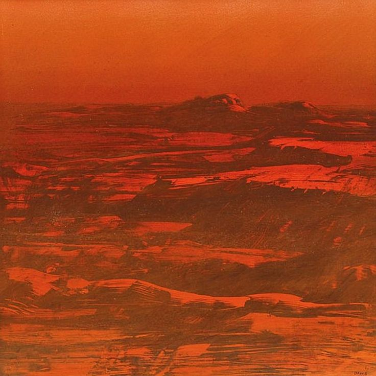 """""""Pilbara"""", by Lawrence Daws (1927- ), Oil on Board, 90 x 106cm."""