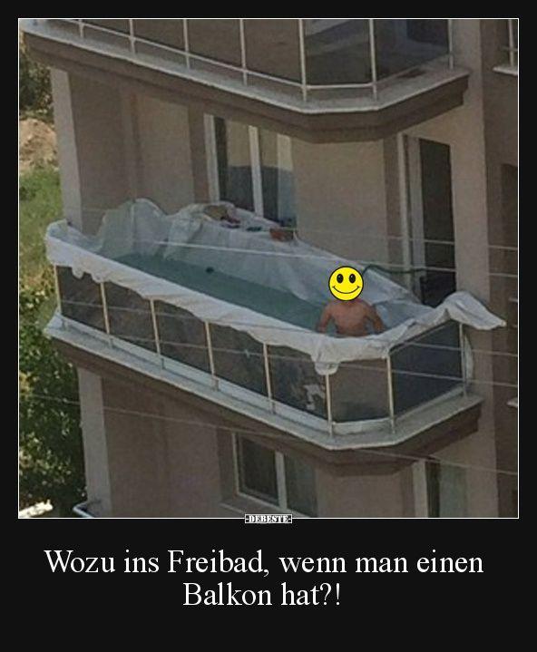 Wozu ins Freibad, wenn man einen Balkon hat?!