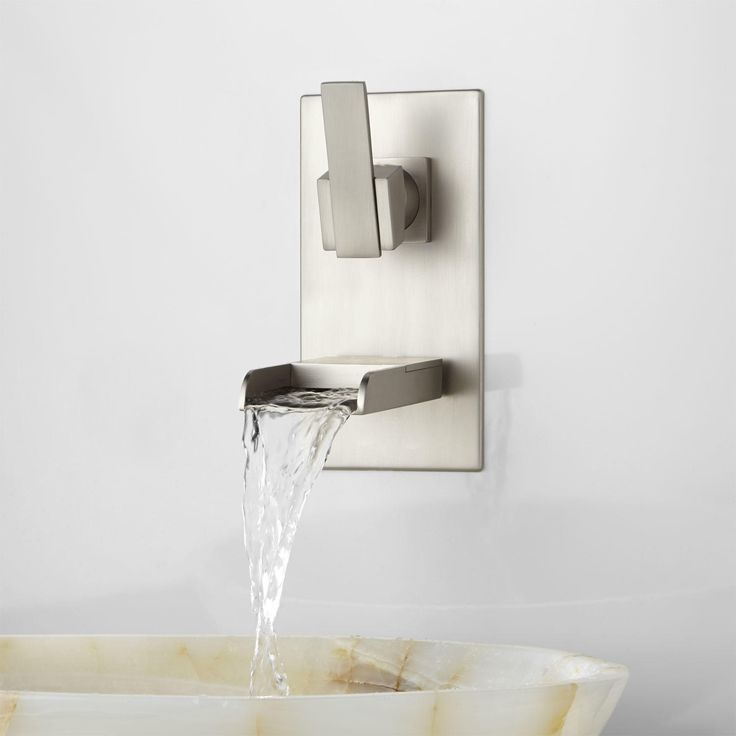 Wall Mounted Waterfall Tub Faucet With Hand Shower