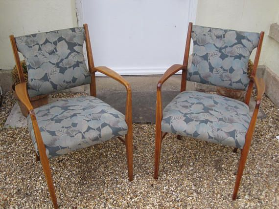 Pair of 1950s carver chairs in the manner of Gordon Russell