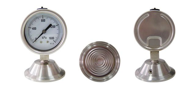 Demanding pharmaceutical applications requiring strict sanitary instrumentation features. This gauge is for special requirements in the dairy, food processing, pharmaceutical and chemical industries.