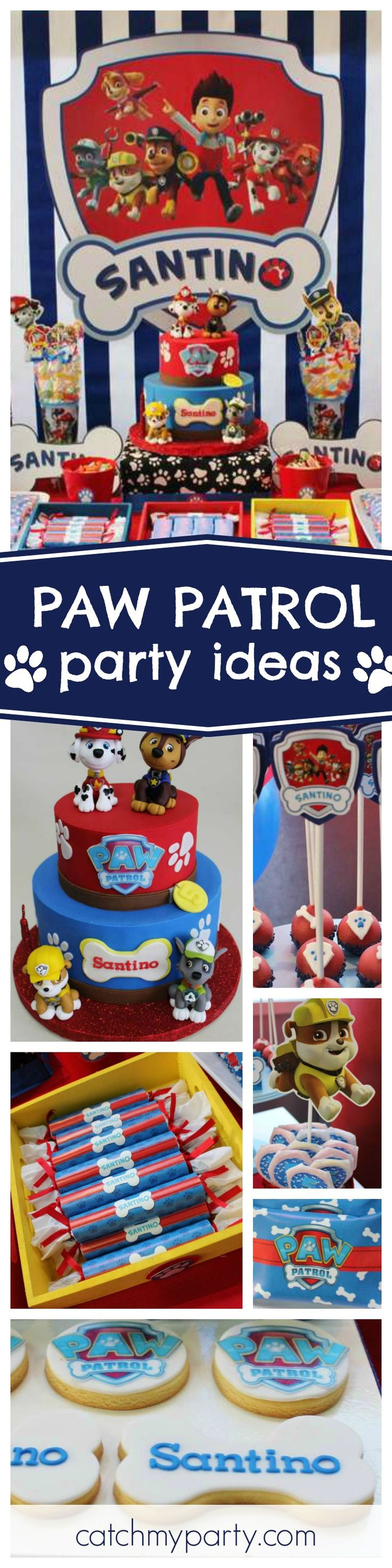 Check out this awesome Paw Patrol Birthday Party. Love the birthday cake. It's so cool! See more party ideas and share yours at CatchMyParty.com