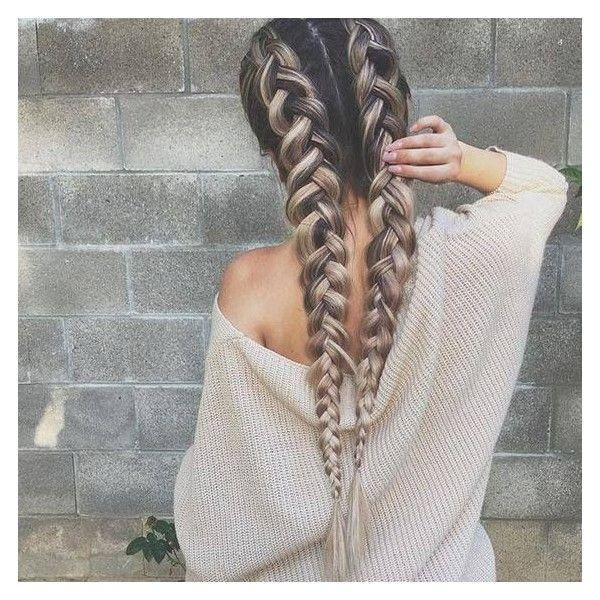 15 Seriously Gorgeous Hairstyles for Long Hair ❤ liked on Polyvore featuring beauty products, haircare, hair styling tools, hair, beauty, braids and people
