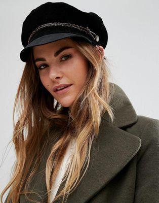 Brixton Baker Boy Hat in Leather