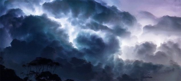 This Thunderstorm Time Lapse Is Absolutely Terrifying.