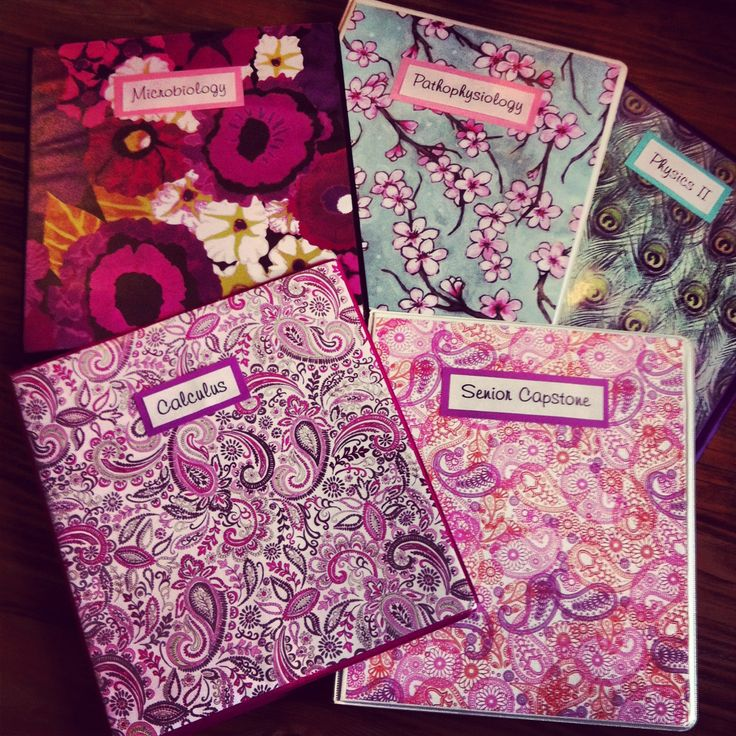 Floral, Paisley And Peacock DIY Binder Covers Made With