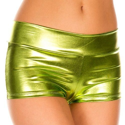 Pole Dancing Underwear Fashion Girl and Women Gothic Metallic Shiny Party Underwear Wet Look Sexy Dancewear Mini Micro Partywear
