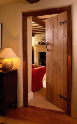 Internal Kitchen Door - Solid Rustic Oak
