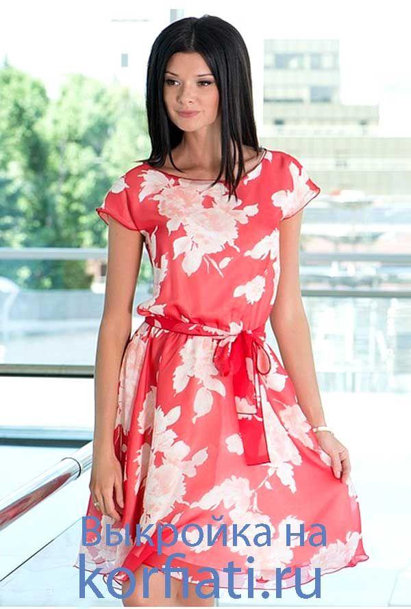 Шьем короткое летнее платье на кулиске