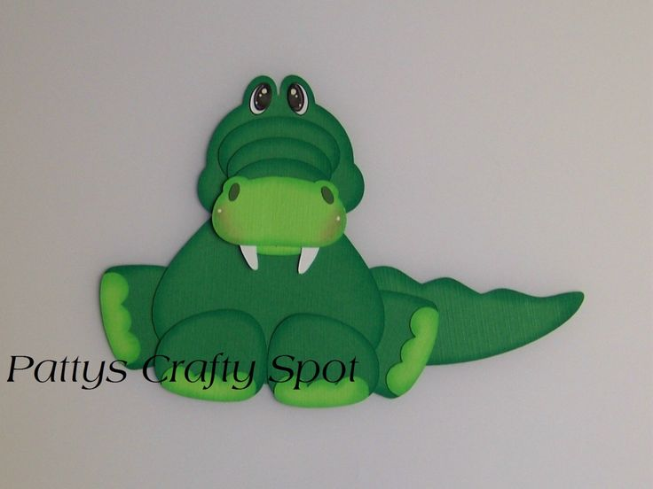 Tiny Treasures Alligator Paper Piecing by by PattysCraftySpot